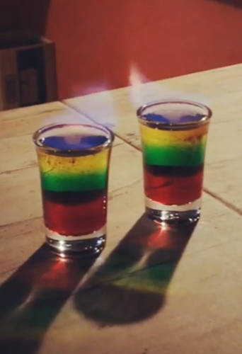 Flaming bob marley shot