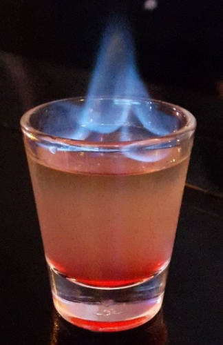 Flaming jesus shot
