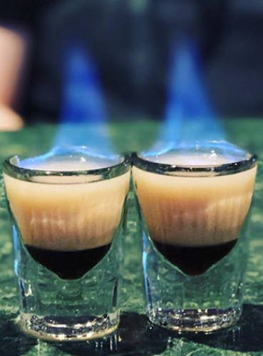 Flaming B52 shot